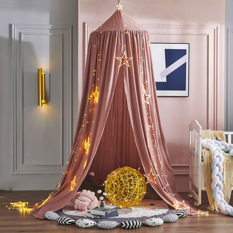Mosquito Net for Boys Girls Baby Bed Canopy Crib Curtain Cotton Hanging Dome Mosquito Net Children Room Decor