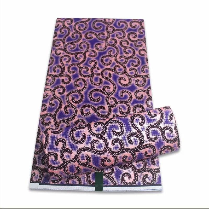 Impressão de ouro africano nova moda anakra 100% algodão tecido cera africano nigeriano ghana kitenge dashiki cera real tecido 6 jardas g0005