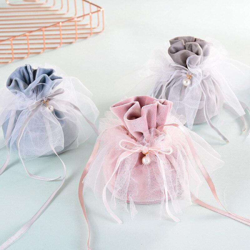 Bolsa de tela para dulces de boda, bolsas de papel para galletas,...