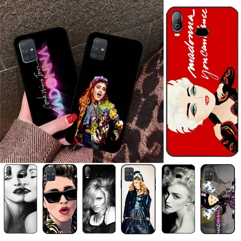 Populaire Madonna Noir Étui Souple Capa Pour Samsung Galaxy A01 A11 A31 A81 A10 A20 A30 A40 A50 A70 A80 A71 A91 A51