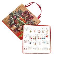 Noël bricolage calendrier de lavent bijoux de mode calendrier de lavent Bracelets porte-bonheur collier boîte cadeau pour les filles