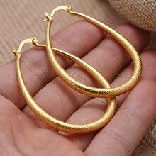 Annayoyo Nigerian Big Kupfer gold ohrringe anhänger schmuck neue design für afrikanische frauen Ohrring hochzeit geschenk