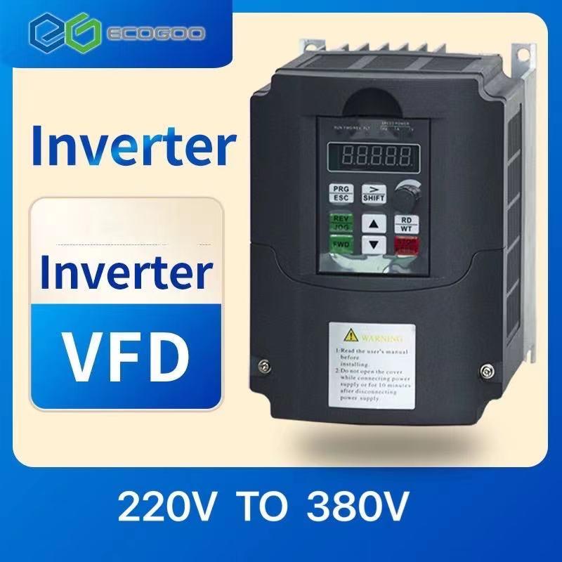 محول تردد متغير 50Hz/60Hz عاكس السيارات Wk310 VFD 5.5kw مرحلة واحدة 220 فولت المدخلات ثلاث مراحل 380 الإخراج