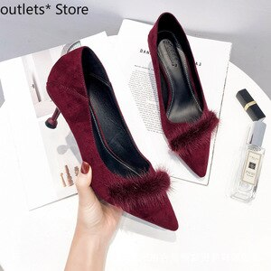Summer New Women's Shoes High Heels Fine Heel Pointed Suede Single Shoes Fashion Casual Shoes