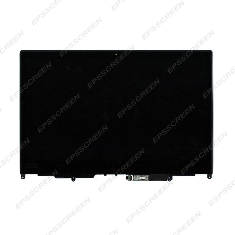 شاشة LCD تعمل باللمس بديلة لجهاز lenovo thinkpad X380 Yoga 02DA172 02DA168 ، مع إطار شاشة LED