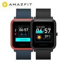 Novo 2020 global amazfit bip s smartwatch 5 atm impermeável built-in gps relógio inteligente 40-day bateria vida monitor de freqüência cardíaca