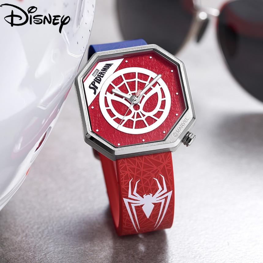 Disney Spider-Man Men's Luminous Quartz New Tape Marvel Watch Fashion Unique Waterproof Watch