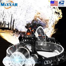 EZK20 livraison directe T6 R5 LED phare 4 Mode étanche mains libres phare torche lampe de poche pour vélo Camping chasse