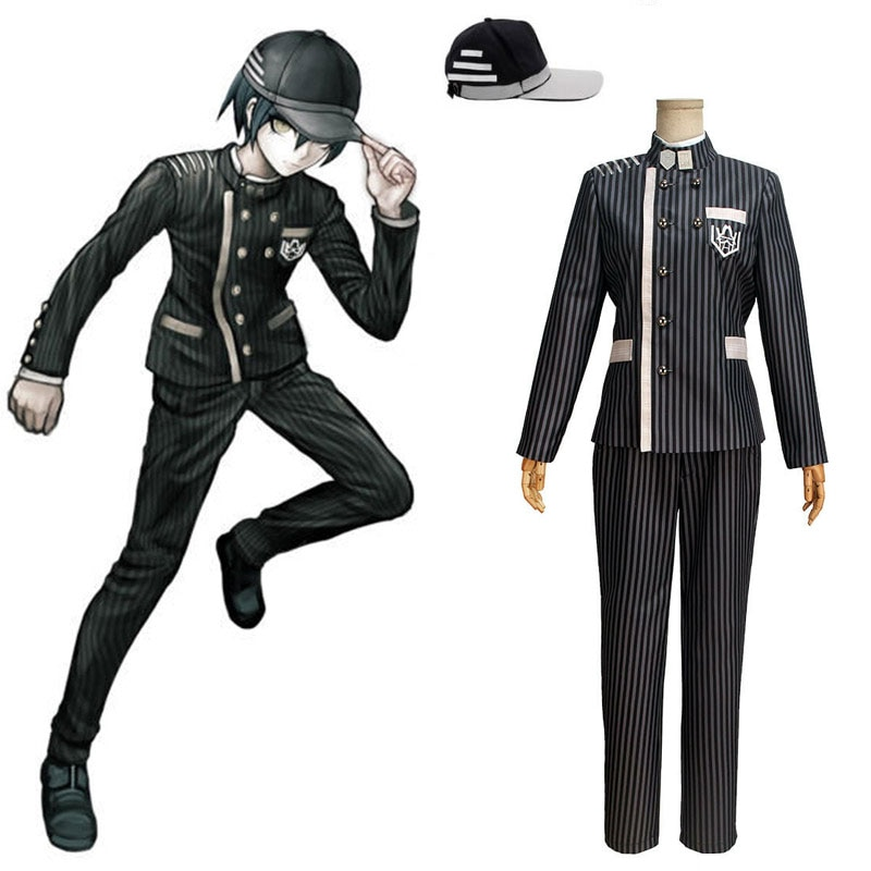 Nouveau Danganronpa V3 Cosplay Saihara Shuichi Cosplay Costume Anime jeu école uniforme Costume tenue manteau + pantalon + chapeau