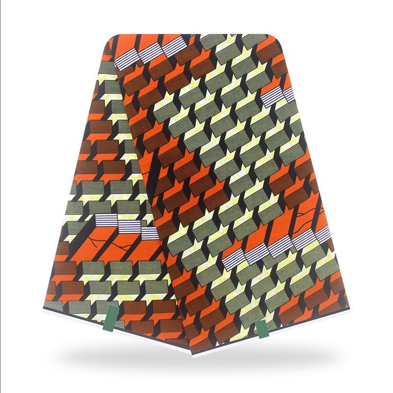 Nigerian Ankara Women dress sewing Material 100%Cotton High Quality Veritable African Wax Dye Printed fabric 6 Yards V-L 3-22