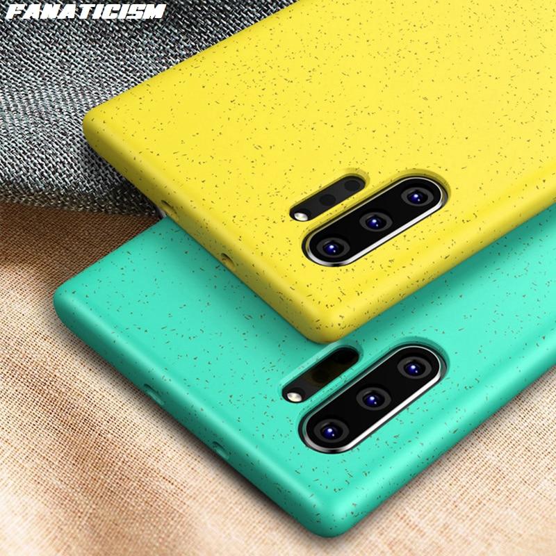 De paja de trigo, ecológico, de TPU, funda de teléfono para Samsung note 10 Plus Note10, funda antigolpes y a prueba de golpes con antihuellas dactilares, 300 unidades
