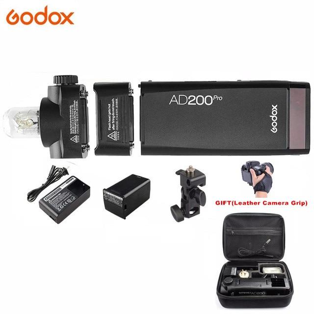 Godox AD200 برو AD200Pro 200Ws 2.4G فلاش ستروب 1/8000 HSS 500 مضات السلطة الكاملة 0.01-2.1s إعادة تدوير 2900mAh بطارية