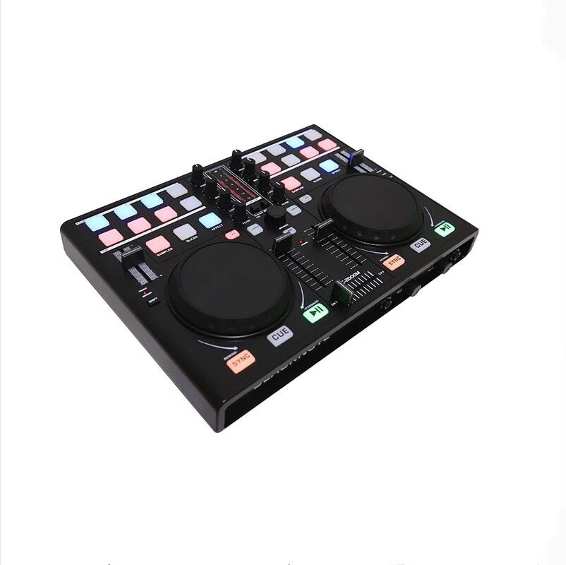 KUANI BLACKNOTE DJ تحكم للعب القرص اللاعبين خلط ميدي تحكم الكمبيوتر جهاز دمج صوتي خلط وحدة التحكم جهاز مزج الصوت 1 orde