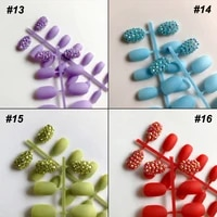 wholesale 14colors custom bling full rhinestones optional sequins stiletto press fake nails on artificial art nails decoration