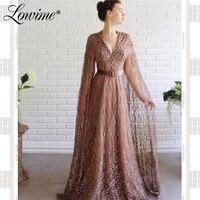 full beaded handmade formal dress long sleeves crystal prom dresses 2020 dubai middle east women evening gowns robe de soiree