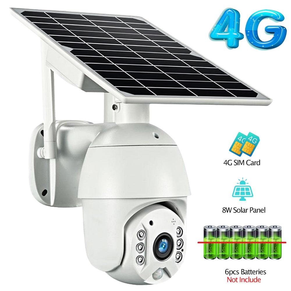 Cámara Solar 4G Wifi de baja potencia, audio Dual, alarma de intrusión de voz, cámara 1080p HD, Panel Solar, cámara impermeable de monitoreo al aire libre