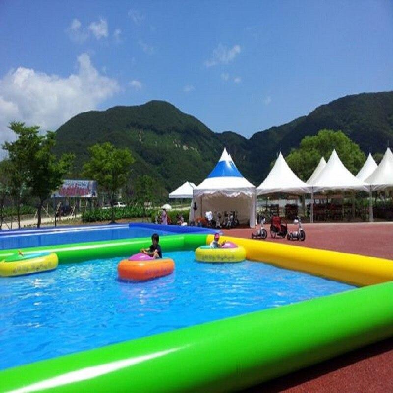 حوض سباحة قابل للنفخ في الهواء الطلق نوع كبير حمام سباحة حجم 10*10*06 م سوبر كبير حمام سباحة الحديقة المائية الصيف كول الأسرة السباحة