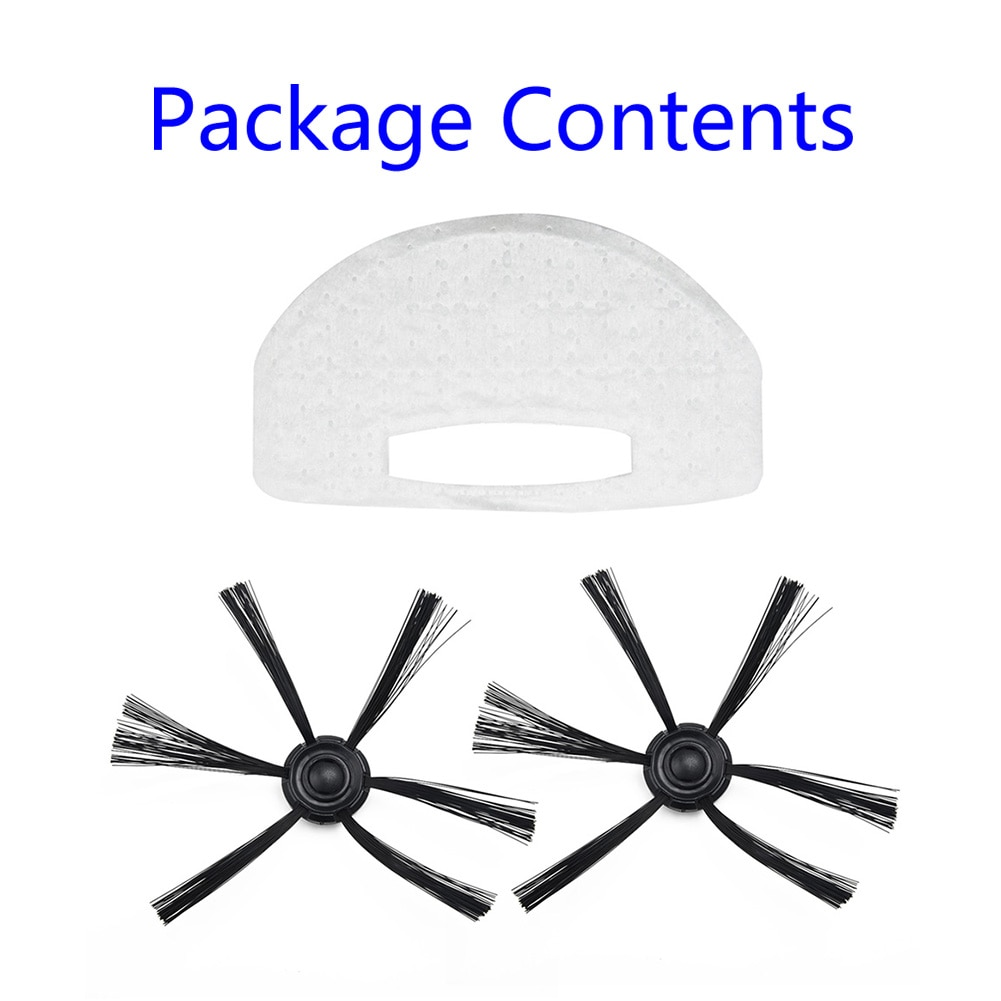 Attachment Spare Filters Parts For Isweep S320 Vacuum Cleaner Sweeping Accessory Robot Replacement Brushes X3 Side Brush Mop Pad
