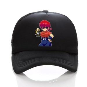 anime Ranma 1/2 Women Men Boys Girls Mesh Cap Cosplay adjusted Baseball hat