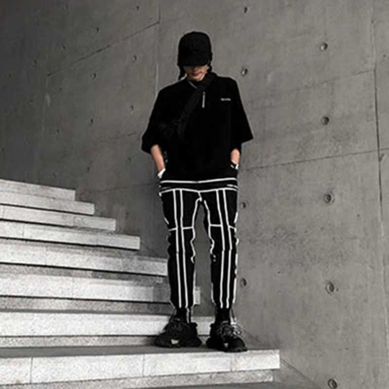 Брюки-Джоггеры мужские со светоотражающей этикеткой, брендовые свободные штаны, уличная одежда, спортивные штаны в стиле хип-хоп, 2021