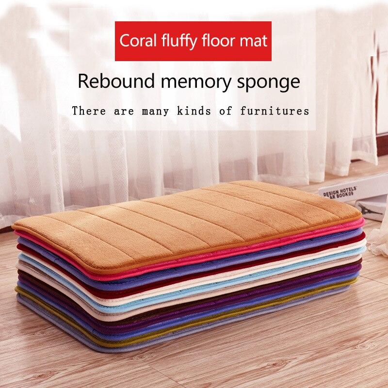 Alfombrilla suave para baño antideslizante, Alfombra de baño de algodón Coral de gran absorción, alfombra de suelo de baño lavable a máquina de 40x60cm