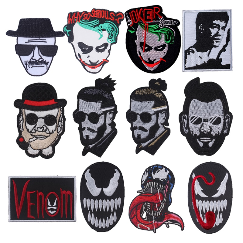 Parches Para Jaquetas Punk Skull Stripes For Jeans insignia pegatina de tela Cowboy Jacket mochila accesorios Para ropa
