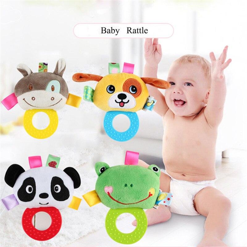 chocalhos brinquedo recem nascido handbell aneis da crianca animais interativos brinquedos