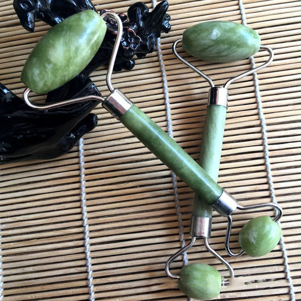 Jade rolo massageador serpentina natural jade massagem varinha rosto massageador rolo barra de beleza cura pedra