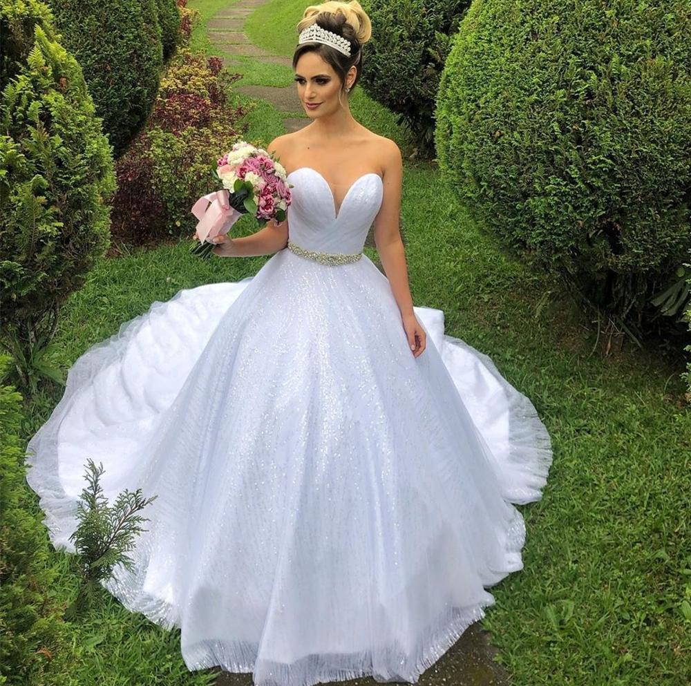 2020 último estidosimple seguro boda vestido cariño Flu de longitud gasa plisado hermosa vestidos de novia vestido de mujer