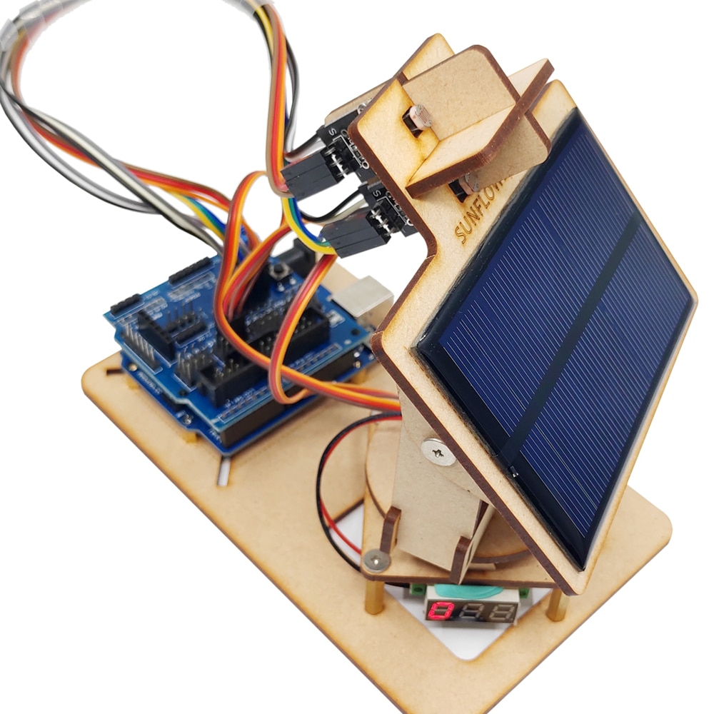 Arduino Intelligent Solar Tracking Equipment DIY STEM Programming Toys Parts