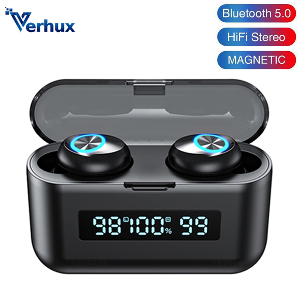 X35 TWS Wireless Bluetooth Earphone Stereo Noise Canceling Headset LED Earbuds With Charging Case To
