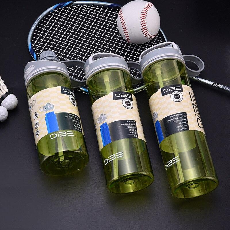 OHFIN deportes botella de agua con paja hidratación bebidas mi botella senderismo ciclismo Camping herramientas de beber 500 ML/600 ML /700ML