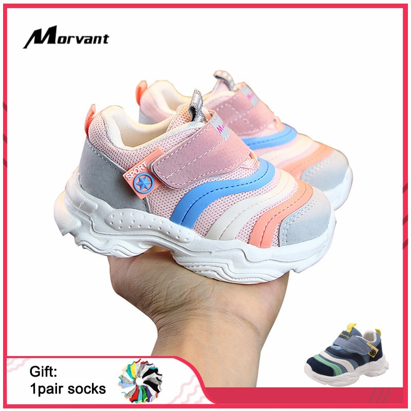 Baby Shoes Fashion Soft sole Baby First Walkers Boys Girls Mesh Breathable Toddler Sneakers Convenient magic buckle Baby Shoe