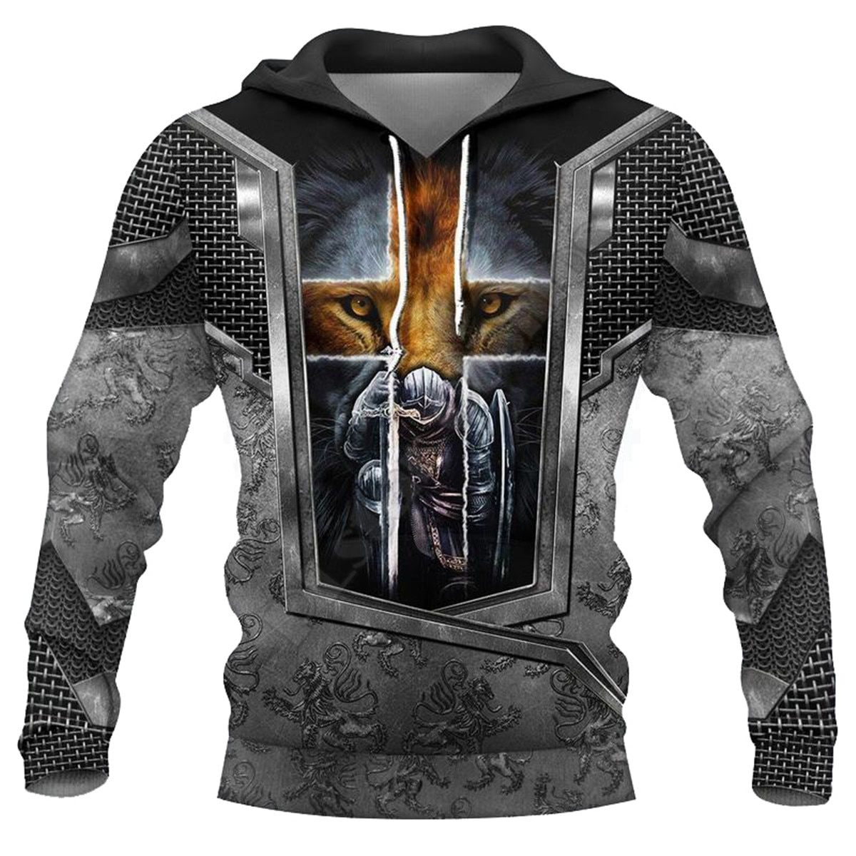Knight Templar Armor 3D All Over Printed Hoodies Fashion Pullover Men For Women Sweatshirts Sweater Cosplay Costumes 03