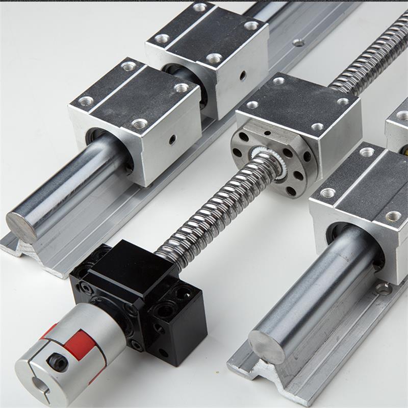 خطي القضبان وحدة: Ballscrew SFU1605 1 قطعة + SBR16 2 قطعة + SBR16UU 4 قطعة + اقتران 8*10 + الجوز الإسكان + BK12BF12 دليل ل CNC ماكي
