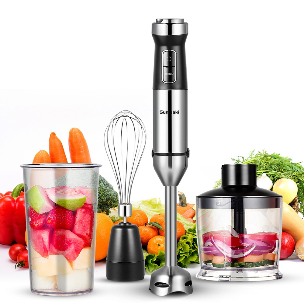 850W 4 in 1 Hand Blender Portable immersion Blender for Kitchen Food Processor stick with Chopper Whisk Electric Mixer Juicer