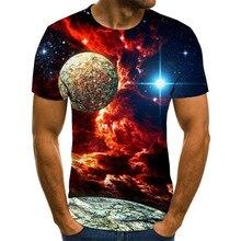 2020 Nouveau Ciel Étoilé 3d Imprimé t-shirt Hommes Dété décontracté homme t-shirts hauts T-shirts Drôle t-shirt Streetwear Mâle taille XXS-6XL