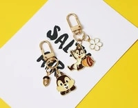 disney anime new style lovely cute squirrel keychain airpods bluetooth headset protector keychain car hanging keyring
