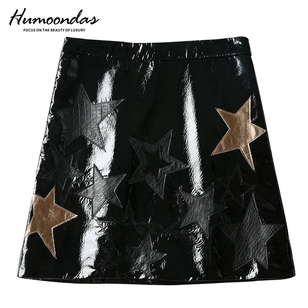 2020 New Womens Sheepskin Skirt Fashion Glossy Short Skirt High Waist A-Line Package Hip Skirt Womens Tight Sexy Mini Skirt