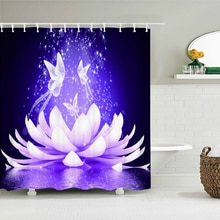 Beautiful Colorful Flower Butterfly Bathroom Shower Curtains Art Printed Shower Curtain Waterproof P