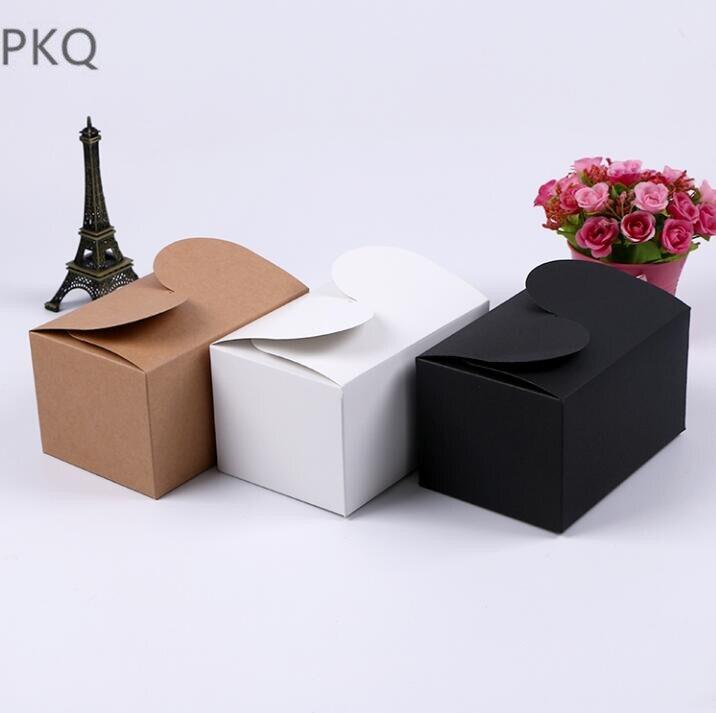 50 шт. оптовая продажа крафт-бумага картонная коробка свеча печенья конфеты коробка для хранения DIY вечерние сувениры коробки для упаковки п...