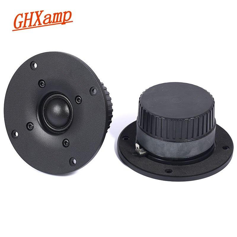 GHXAMP 4 pulgadas Silk Film Tweeter 4ohm 20W HIFI Unidad de altavoz nueva estantería altavoz floor box trible con anti-magnético 2 uds