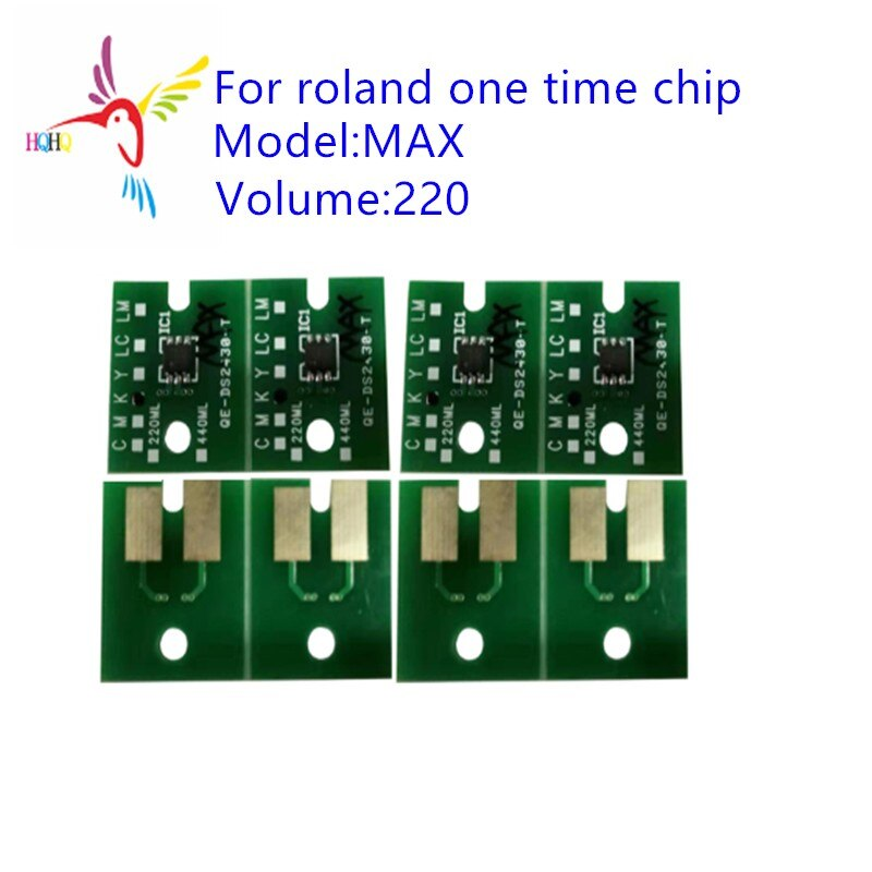 220ML single use chip MAX For Roland RA-640/SC545/RS-640/RS-540//xj-740/j-640/VS-640/VS-540/VS-420/VS-300 MAX One time chip
