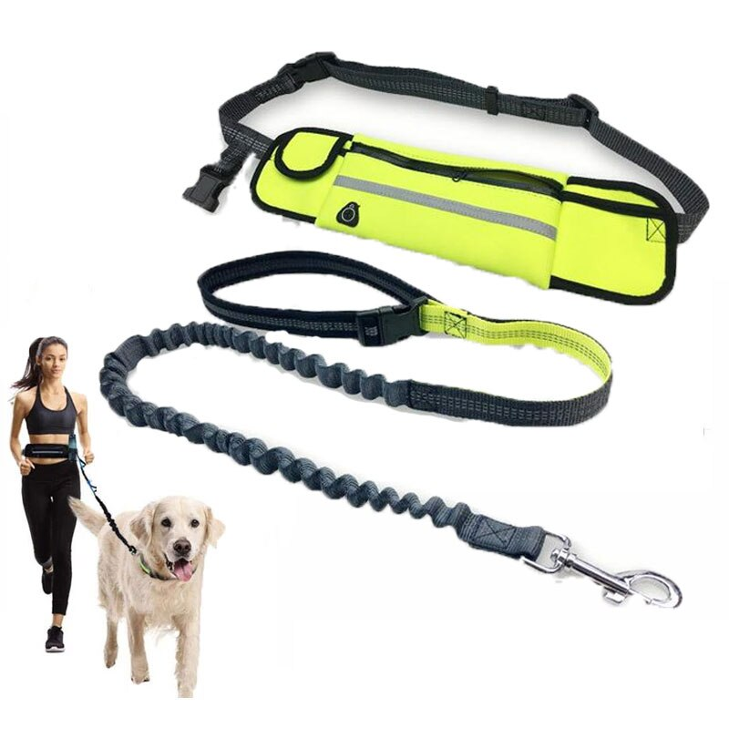 Running Dog Leash Nylon Hand Freely Pet Products Dogs Harness Collar Jogging Lead Adjustable Waist Leashes Traction Belt Rope