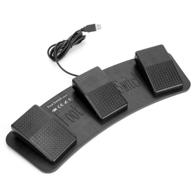 AMS-Fs3-P Usb Triple Pedal interruptor Control teclado ratón 3 pedales simulan cualquier tecla en teclado combinación clave Hid Usb Swit