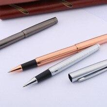 Pistolet métal gris stylo à bille roulante brossé école rose doré argent garniture papeterie bureau fournitures scolaires écriture