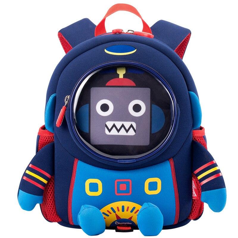 2020 New 3D Robot School Bags for Boys Fashion Design Kids Child School Backpacks Children Schoolbag Mochila Escolar