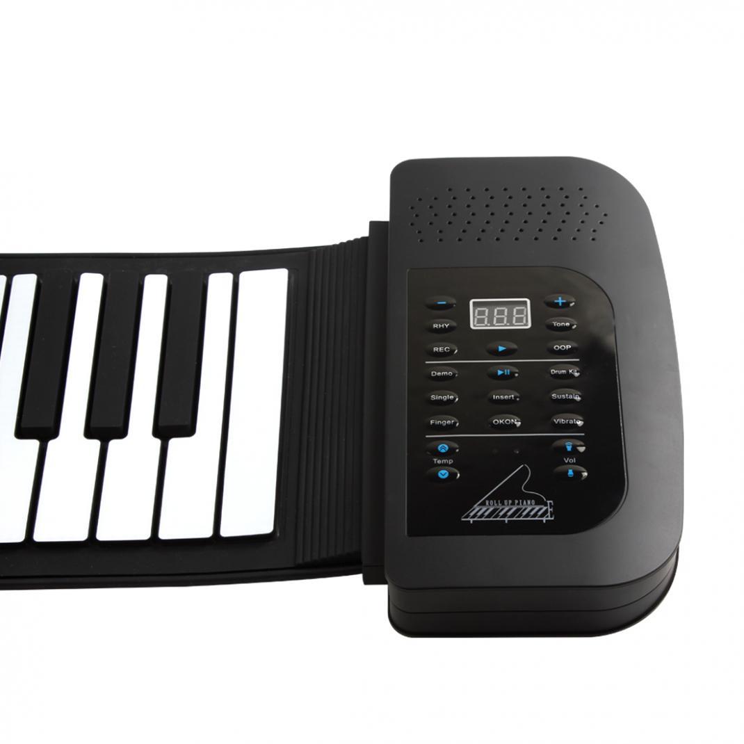 KONIX PA61 Waterproof Digital Display Rechargeable 61Keys 128 Tones Children Electronic Flexible Roll Up Piano Built-in Speaker enlarge
