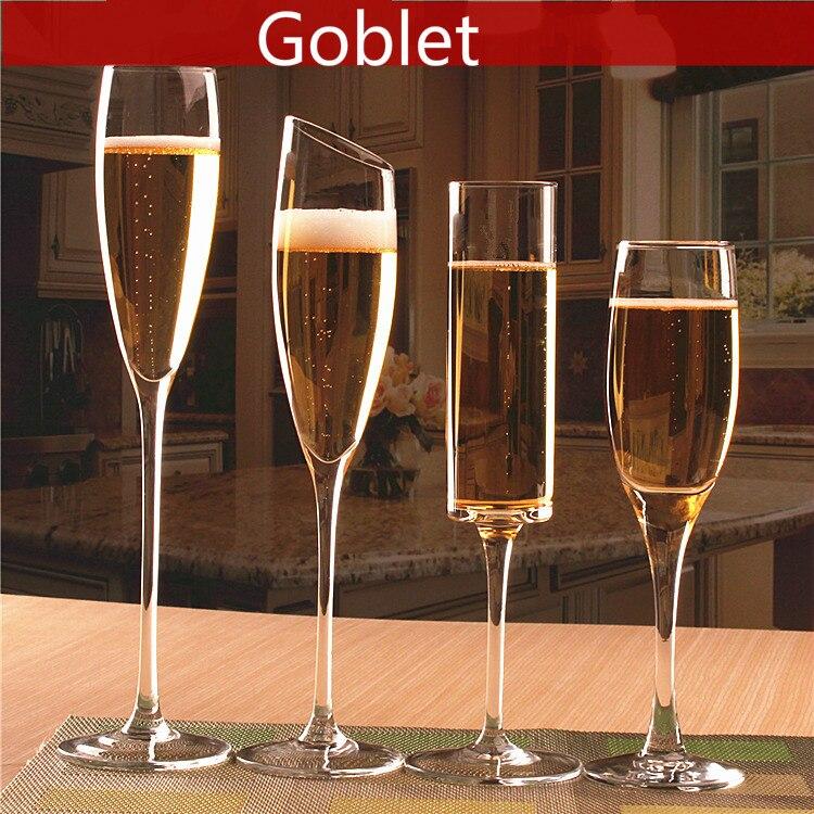 1 قطعة الزجاج الشمبانيا كوب تألق كأس النبيذ الزجاج الأحمر النبيذ الزجاج الأبيض النبيذ الزجاج الزفاف هدية روك البهلوان
