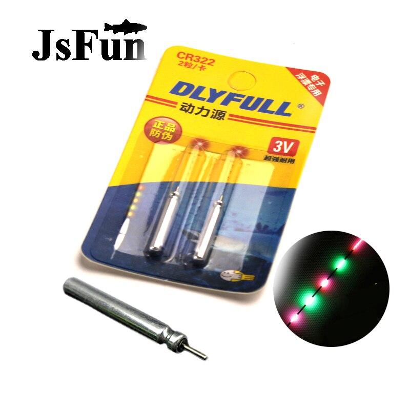 Batería de litio JSFUN 20/50/100 Uds CR322 para luz de pesca flotante electrónica, celdas Pin, accesorios de pesca nocturna PJ04